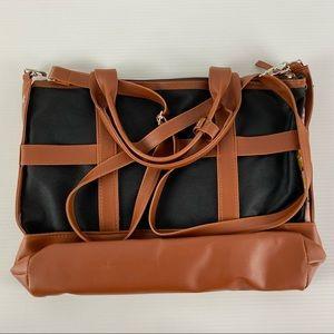 Women's Avon Sarah Floral To Black Interchangeable Body Large Tote Handbag